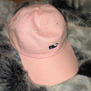 PINK VINEYARD VINES WHALE LOGO HAT